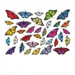 Schmetterlings Fahrrad aufkleber