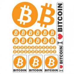 Münzen Bitcoin Aufkleber