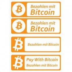 Bezahlen mit Bitcoin Aufkleber