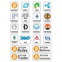 Kryptowährung Aufkleber bitcoin Aufkleber