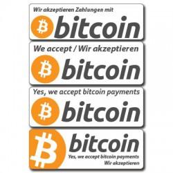 akzeptieren Bitcoin Aufkleber