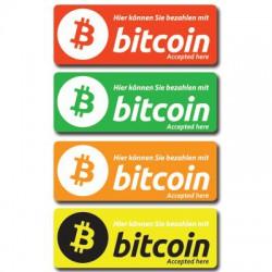 Bezahlen Bitcoin Aufkleber