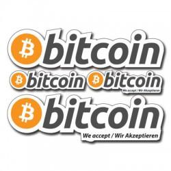 contour Bitcoin Aufkleber