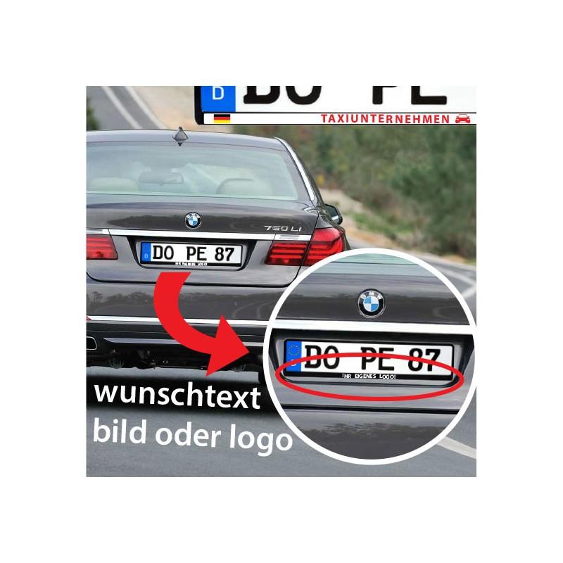 Kennzeichenhalter Aufkleber Selbst Gestalten Wunschtext Bild Oder Logo Stickermaster