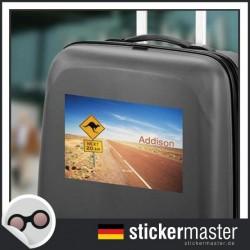 eigener Name Kofferaufkleber Australien