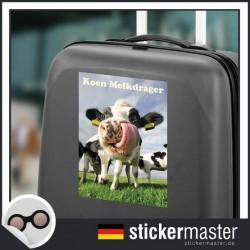 eigener Name Kofferaufkleber Kuh 2