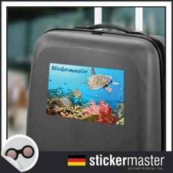 eigener Name Kofferaufkleber Unter Wasser