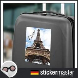 eigener Name Kofferaufkleber Paris