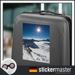 eigener Name Kofferaufkleber Schneeberg