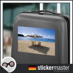 eigener Name Kofferaufkleber Strand