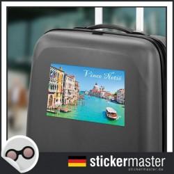 eigener Name Kofferaufkleber Venedig