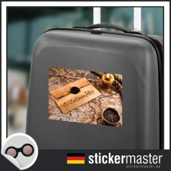 eigener Name Kofferaufkleber Weltreisender