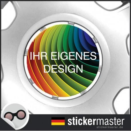 Ihre Eigenen Radnabenaufkleber Gestalten Stickermaster