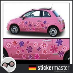 Autoaufkleber Blumen Pink Flowers
