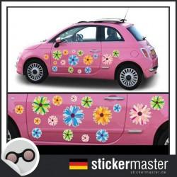 Autoaufkleber Blumen Bright Flowers