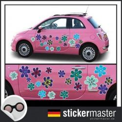 Autoaufkleber Blumen Happy Flowers