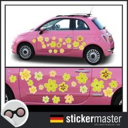 Autoaufkleber Blumen Summer Flowers