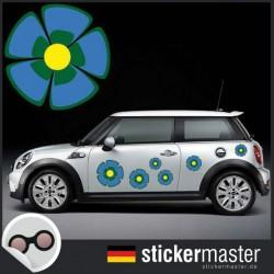Autoaufkleber Blumen Flashy