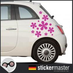 Hippie Blumen Autoaufkleber