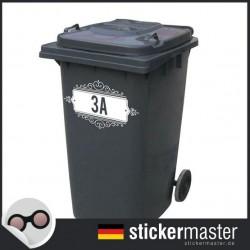 Mülleimer Aufkleber Nummer 3