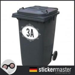 Mülleimer Aufkleber Nummer 2