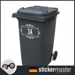 Mülleimer Aufkleber Nummer 4