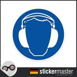 Gehörschutz tragen Aufkleber