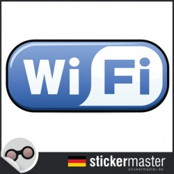 Wifi Aufkleber Full Color