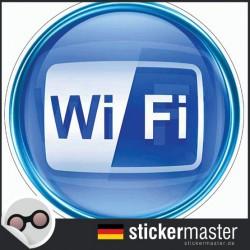Wifi Aufkleber Full Color Rund