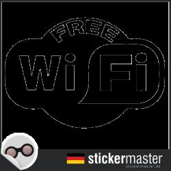 Free Wifi Aufkleber geschnitten