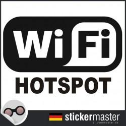 Wifi Hotspot Aufkleber geschnitten