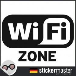 Wifi Zone Aufkleber geschnitten