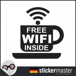 Kaffee Wifi Aufkleber