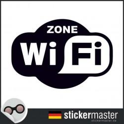 Wifi Zone oval Aufkleber geschnitten