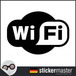 Wifi oval Aufkleber geschnitten