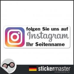 Instagram Aufkleber eigener Firmenname
