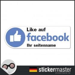 Like auf Facebook Sticker Eigener Firmenname