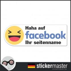 Haha auf Facebook Sticker Eigener Firmenname