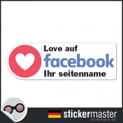 Love auf Facebook Sticker Eigener Firmenname