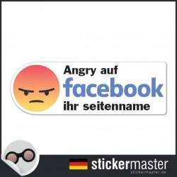 Angry auf Facebook Sticker Eigener Firmenname