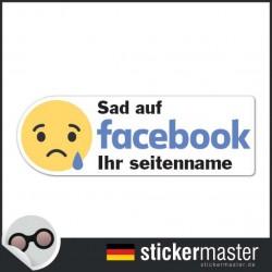 Sad auf Facebook Sticker Eigener Firmenname
