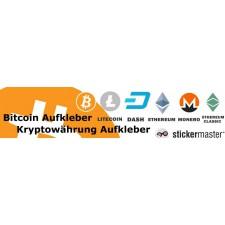 Bitcoin aufkleber und Kryptowährung Aufkleber
