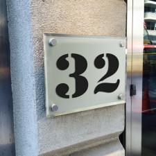 Zahlenaufkleber Stencil